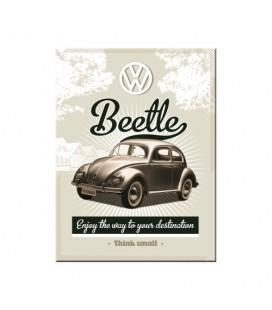 Tabliczka, magnes, VW Beetle