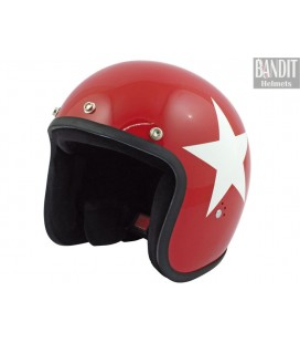 Kask Bandit Jet Star Red 2