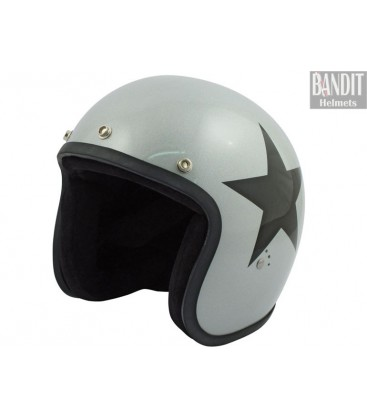 Kask Bandit Star Jet silver