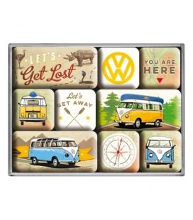 Magnesy, zestaw, VW Get Lost