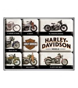 Magnesy, zestaw, Harley Models
