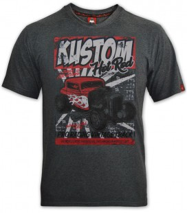 T-shirt Kustom Hot Rod Gray, TSM-031