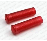 Manetki czerwone, brokat, MA-007