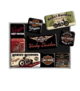 Magnesy, zestaw, Harley moto 1