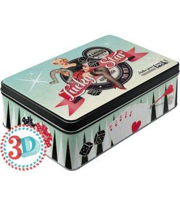 Pojemnik 3D, puszka, Poker
