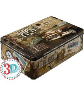 Pojemnik 3D, puszka, Route 66