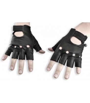 Rękawice motocyklowe, bezpalcowe
