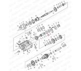 Simering wałka zdawczego US-052