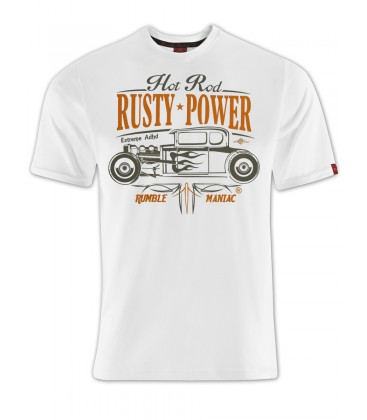 T-shirt Hot Rod Factory White, TSM-006