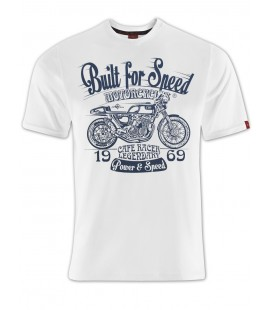 T-shirt Built for Speed White, TSM-011