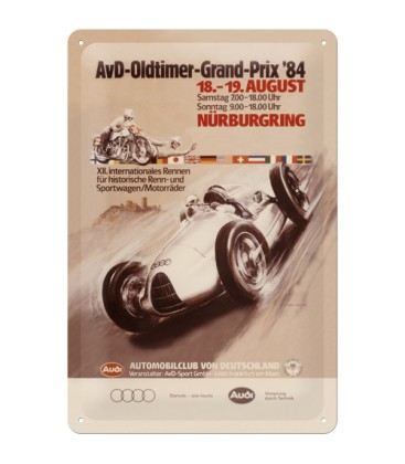 Szyld, tablica, Audi Oldtimer