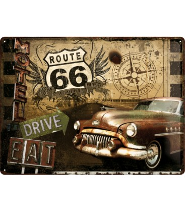Szyld, tablica, Hot Rod, Route66