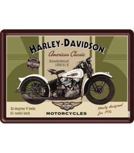 Tabliczka 14x10 szyld Harley Knucklehead