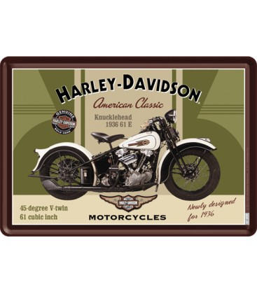 Tabliczka, pocztówka, Harley 4