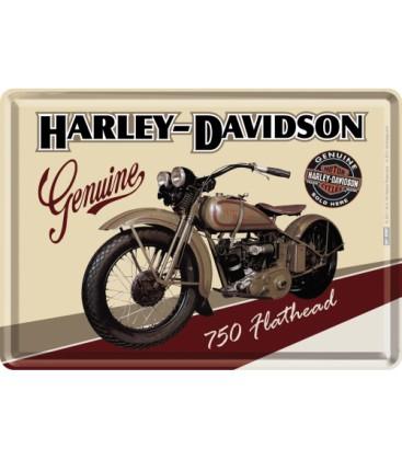 Tabliczka, pocztówka, Harley 5