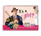 Tabliczka, pocztówka, It's a girl
