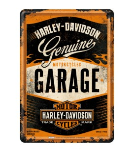 Tabliczka 14x10 szyld Harley Garage