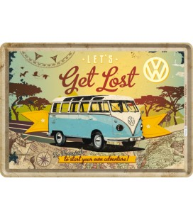 Tabliczka 14x10 szyld VW Get Lost