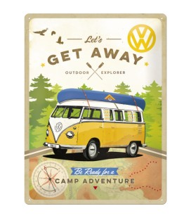 Szyld 30x40 VW Bulli Get Away