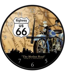 Zegar Route66 Moto