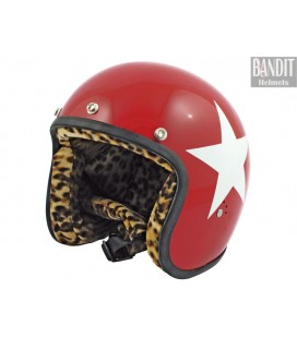 Kask Bandit Jet Star Red 1