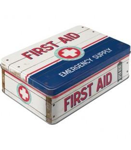 Pojemnik 3D, puszka, First Aid Blue