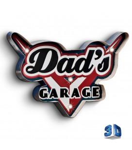Podświetlany Szyld 3D, Dad's Garage LED, GAD-021