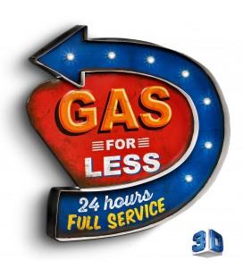 Podświetlany Szyld 3D, Gas Station LED, GAD-030