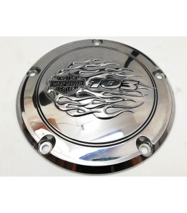 Derby Cover Twin Cam, OEM Flames 103, UZ-570