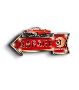 Podświetlany Szyld 3D, Chevy Garage LED, GAD-039
