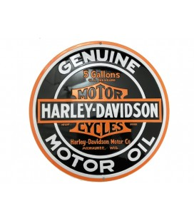 Szyld 36 x 36, Harley Davidson Oil Round, GAD-043