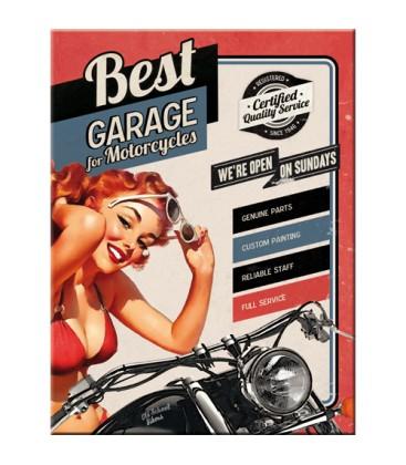 Tabliczka, magnes, Best Garage