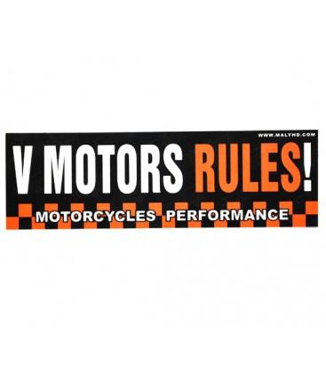 Naklejka V Motors Rules