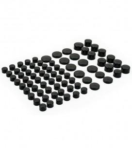 Nakładki na śruby zestaw czarne, ND-189