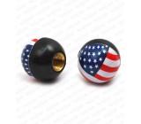 Nakrętki na wentyle, USA, flaga