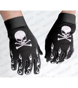 Rękawice motocyklowe, czaszka