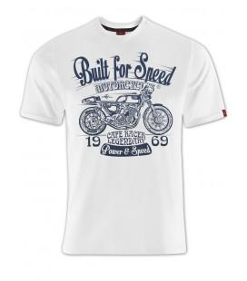 T-shirt Built for Speed White, TSM-011