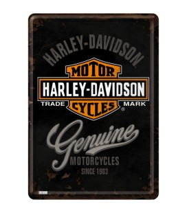 Tabliczka, pocztówka, Harley 2