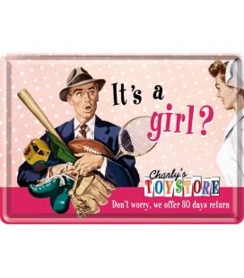 Tabliczka 14x10 szyld To dziewczynka?