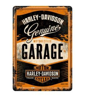 Tabliczka, pocztówka, Harley Garage
